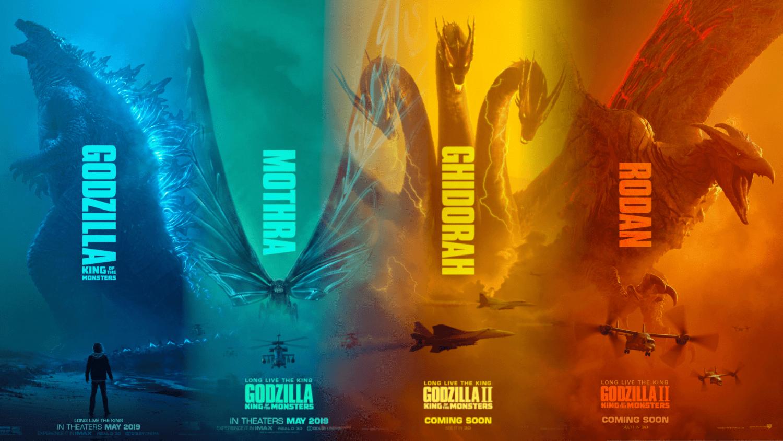 哥吉拉2 四大怪獸海報