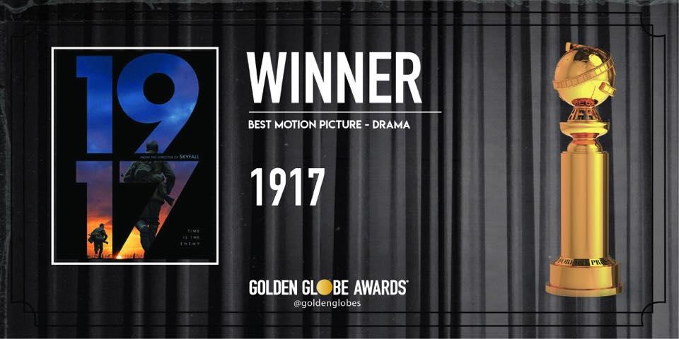 2020金球獎得獎名單 1917