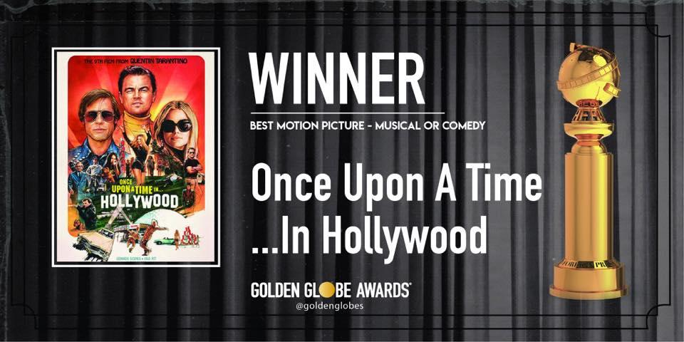 2020金球獎得獎名單 從前有個好萊塢