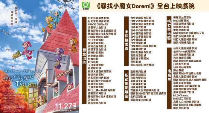 尋找小魔女DoReMi 上映戲院